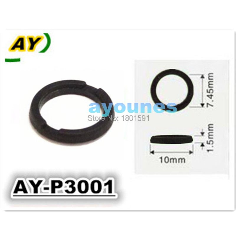100pcs/set  Auto parts Fuel injector repair kits of plastic washer seals Fit for TOYOTA (AY-P3001,10*1.5*7.45mm)