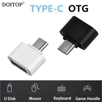 DOITOP Type C OTG Adapter Type C 3.1 Male to USB 2.0 Female USB-C OTG Adapter Converter for U Disk Mouse Keyboard Game Handle