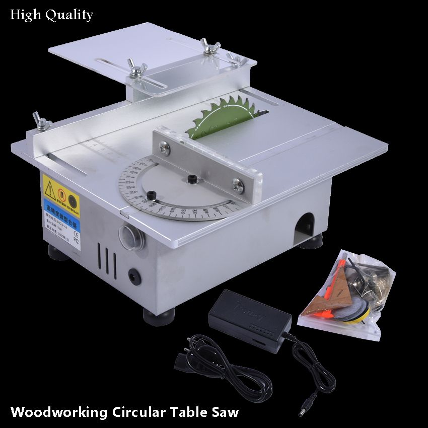 Mini Table Saw for Woodworking High Precision DC 24V 7000RPM Cutting Machine DIY Model Saws Precision Carpentry Chainsaw Cutter