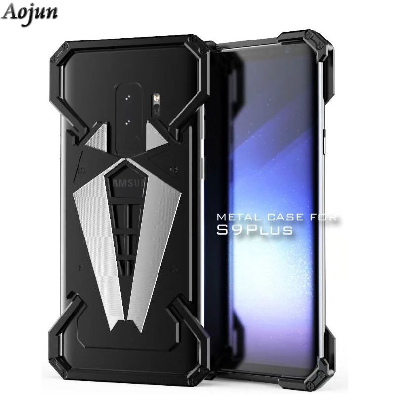 Aojun For Samsung S9 Plus Metal Phone Case Aluminum Metal Bumper Case For Samsung Galaxy S9 Plus Note 8 Phone Cover Coque Black