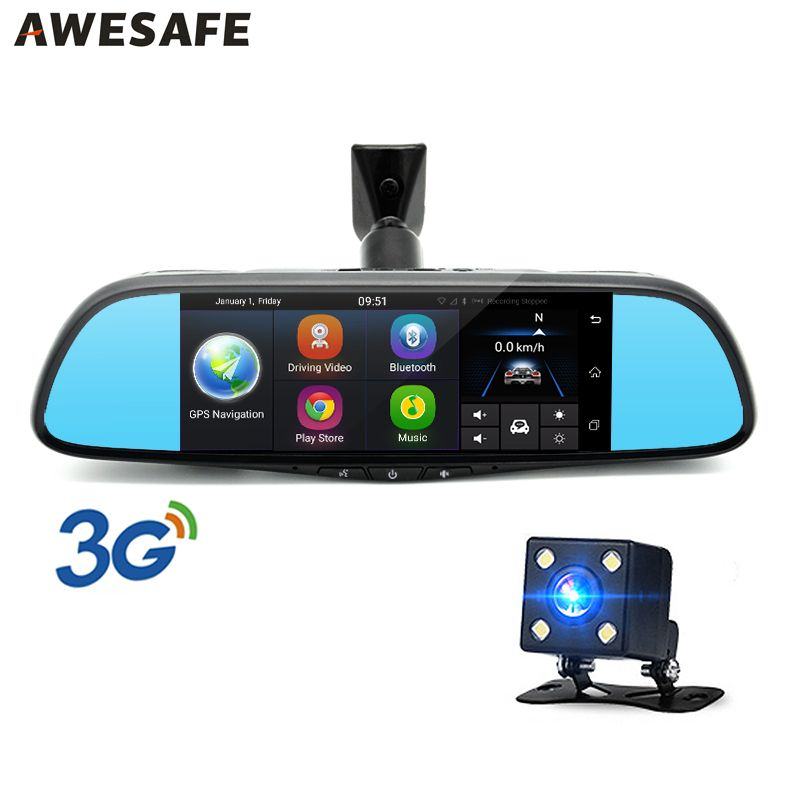 AWESAFE Special 3G Car Rearview Mirror DVR Camera 7