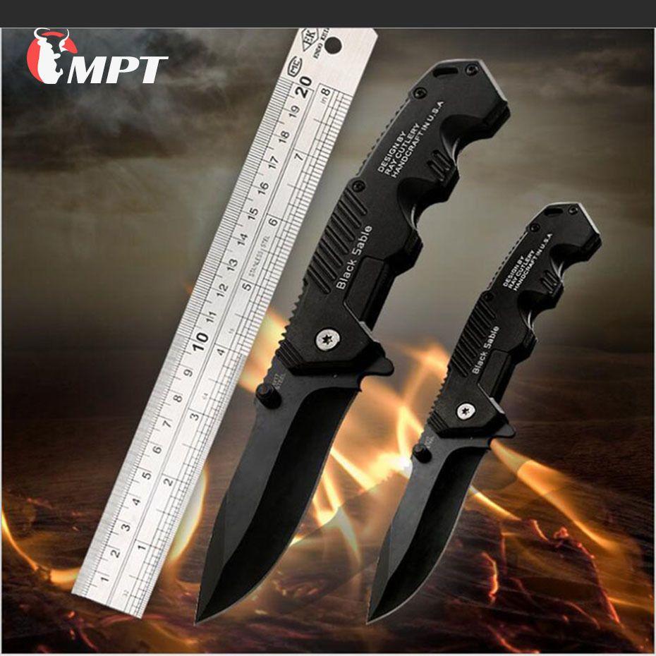 Couteau pliant tactique survie couteaux chasse Camping lame edc multi haute dureté militaire survie couteau poche