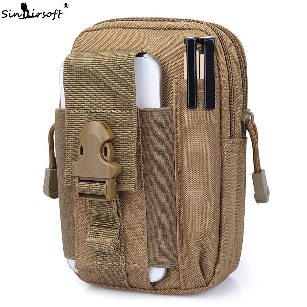 2018 Nueva SINAIRSOFT Cinturón Molle bolsa Bolsa Paquetes de La Cintura Bolsa de Bolsillo Militar Fanny Pack para Iphone7, 7 Plus, Samsung Molle bolsas LY0011
