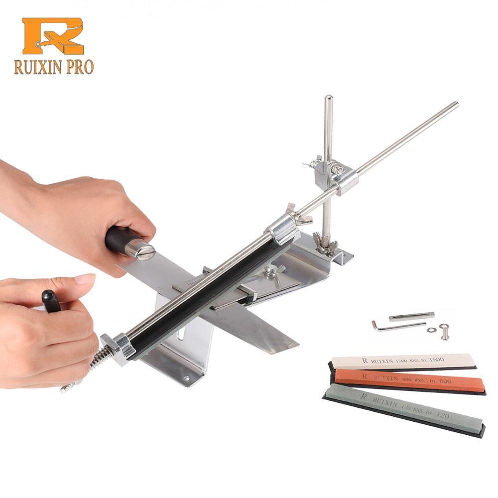 Ruixin Pro aiguiseur de couteau de cuisine professionnel fer acier angle fixe avec pierres