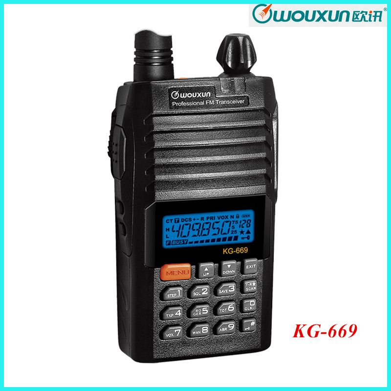 New Wouxun KG-669 136-174MHz Voice Transmitter and Receiver Ham Walkie Talkie