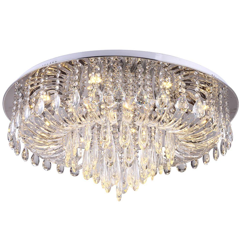 luxury design crystal ceiling light modern lighting AC110V 220V lustre plafonnier led bedroom living room lamp