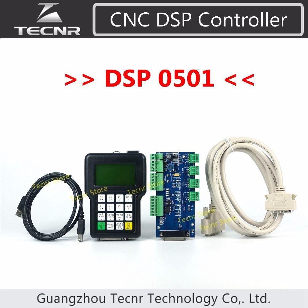 TECNR 3 axes DSP contrôleur 0501 système pour CNC routeur poignée à distance version anglaise