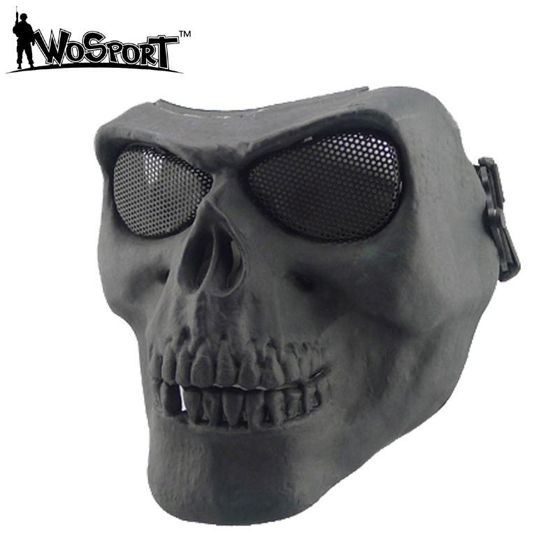 Geist Full Face Schädel Knochen Airsoft Paintball Maske Outdoor Jagd Cs Wargame Maske Halloween maske