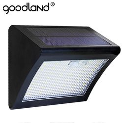 Goodland LED Solar PIR Motion Sensor Light Outdoor Solar Waterproof lamp Solar Panel 3 Modes Auto Sensing For Garden Patio