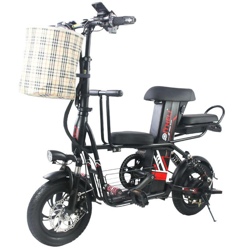 Eltern-kind elektrische fahrrad 12-inch Klapp elektrische fahrrad Abnehmbare batterie elektrische fahrrad reise elektrische fahrzeug