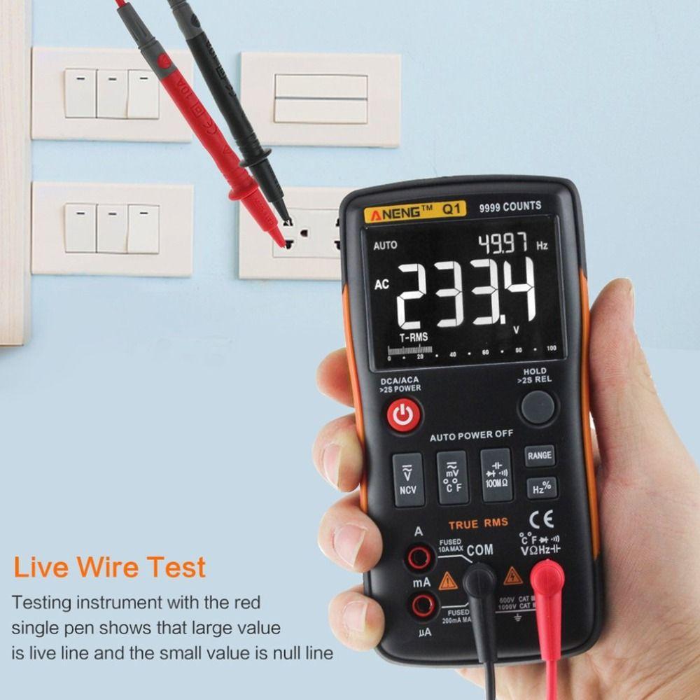 Q1 Digital Multimeter Multimetro Transistor Mastech Multimetre Clamp Meter uni Capacitor Tester t Analogico rm409b Auto Range