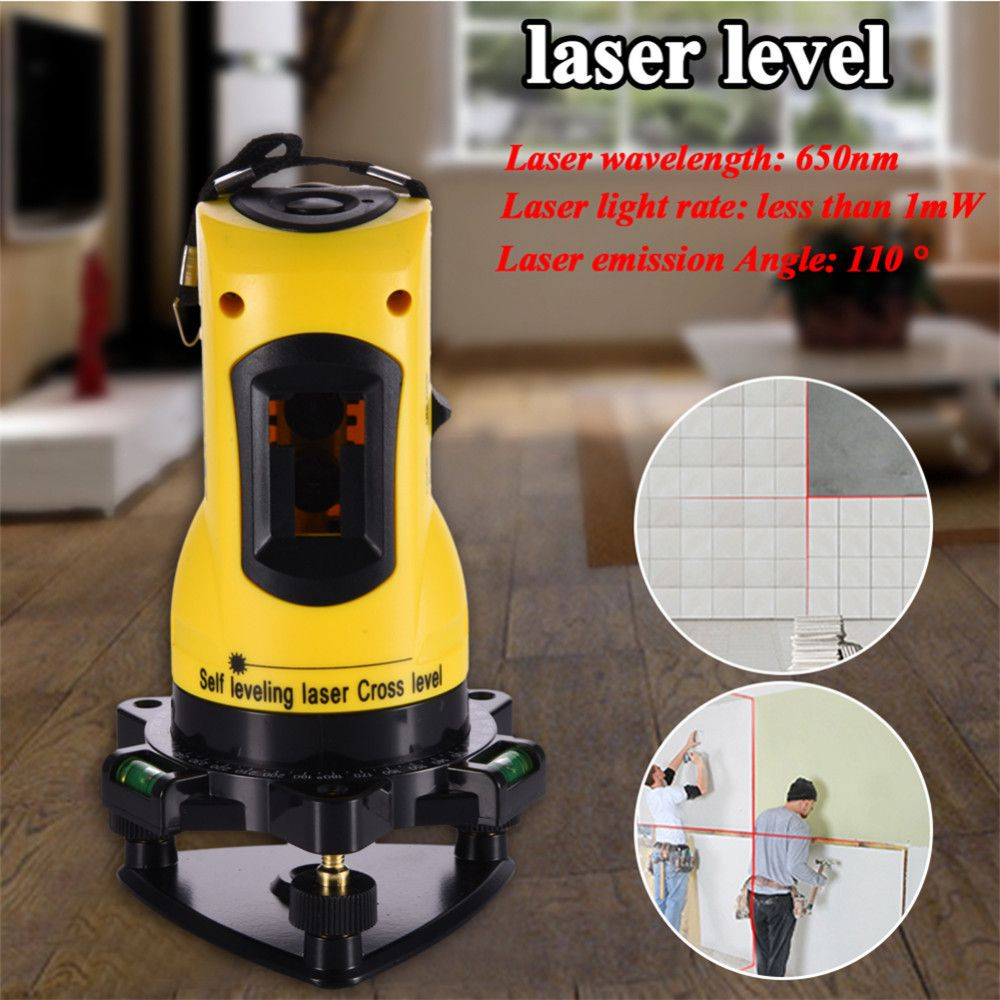 ZH-SL203 Laser Level 650nm 2 Red Cross Lines 360 Rotary Degree Self- Leveling Nivel Laser Diagnostic-tools Yellow