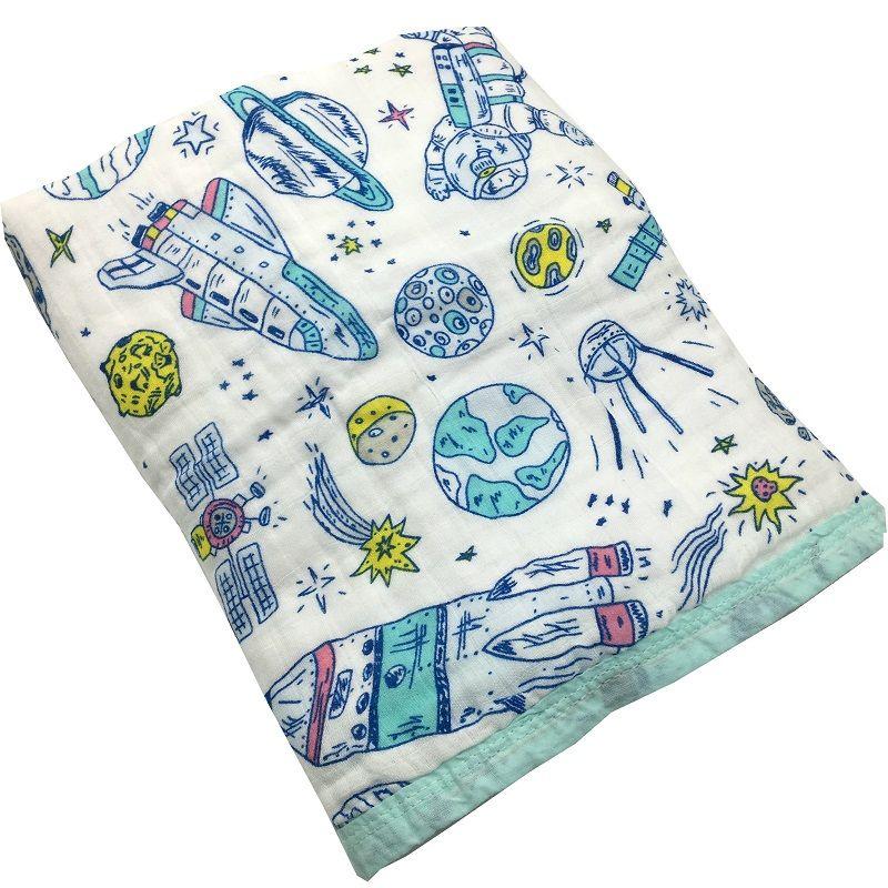 Quatre/Six Couche 100% Coton couverture de bébé en mousseline Nouveau-Né Emmailloter Super Confortable Literie Couvertures lange d'emmaillotage Bébés serviette de bain