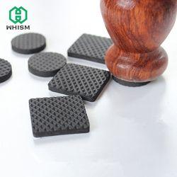 WHISM черный самоклеящийся мебельный стул протекторы ноги колодки крышки напольные настольные Чехлы для 20-90 мм квадратные круглые не-антиско...