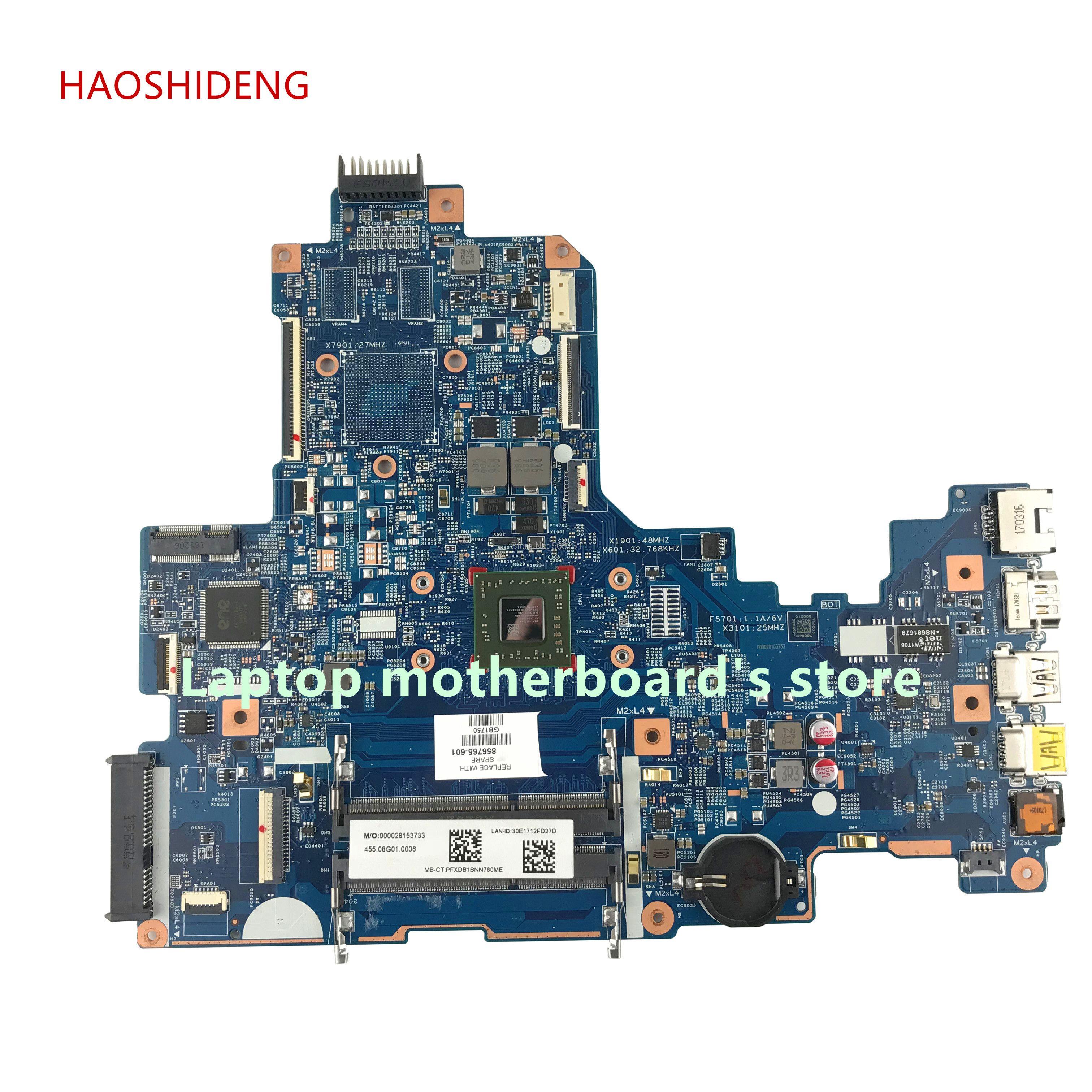 HAOSHIDENG 856765-601 856765-001 448.08G03.0011 mainboard For HP NOTEBOOK 17-Y 17Z-Y 17-Y088CL laptop motherboard with A8-7410