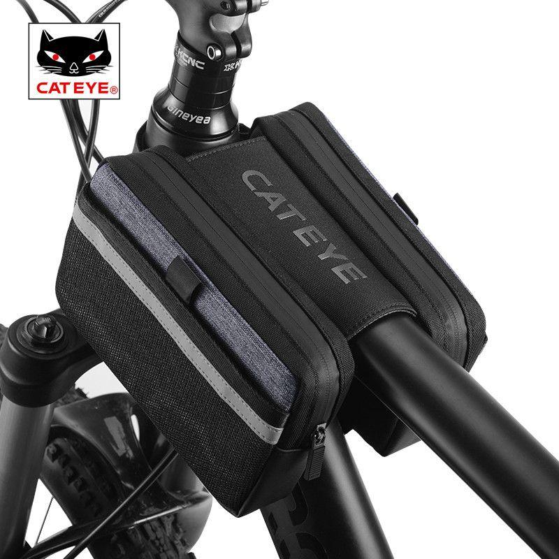 CATEYE Multifunktions Werkzeuge Top Rohr Taschen MTB Radfahren Frontrahmen Taschen Wasserdichte Kapazität Reparatur Werkzeuge Set Paket Zubehör