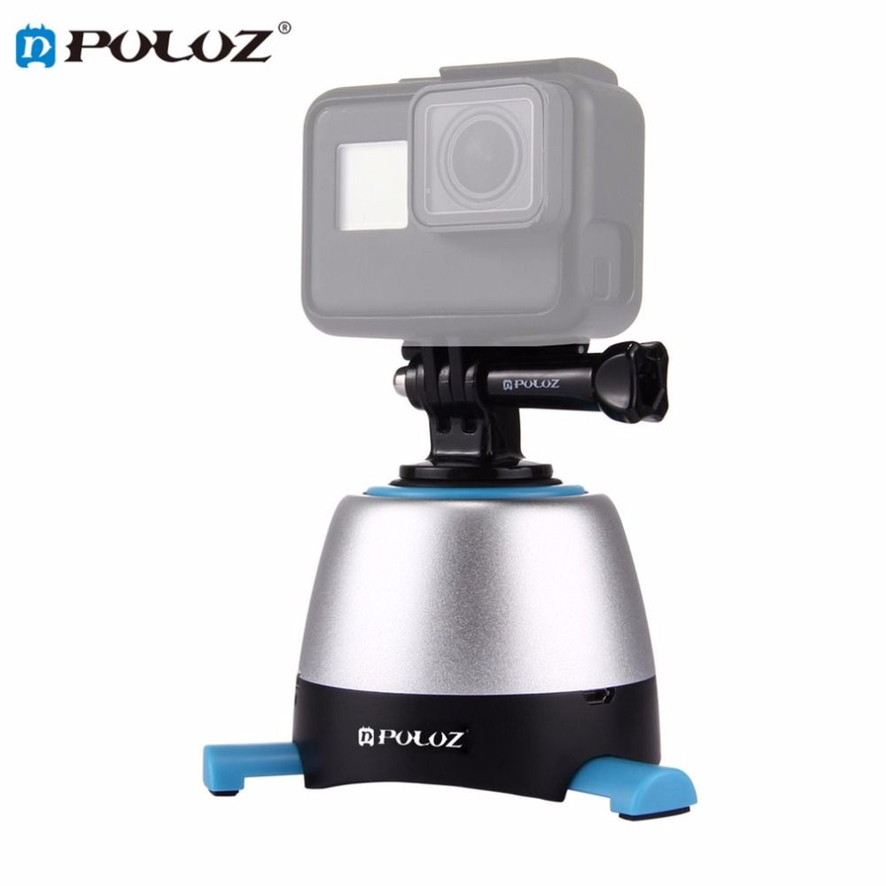 PULUZ Electronic Time Lapse 360 Degree Rotation Panoramic Tripod Head with Remote Controller Rotating Pan Head for GoPro DSLR