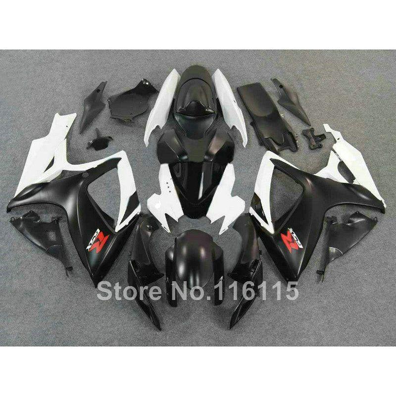 Vollständige verkleidung kit für SUZUKI spritzgießwerkzeug GSXR 600 750 K6 K7 2006 2007 weiß schwarz verkleidungen eingestellt GSXR600 GSXR750 06 07 Q550