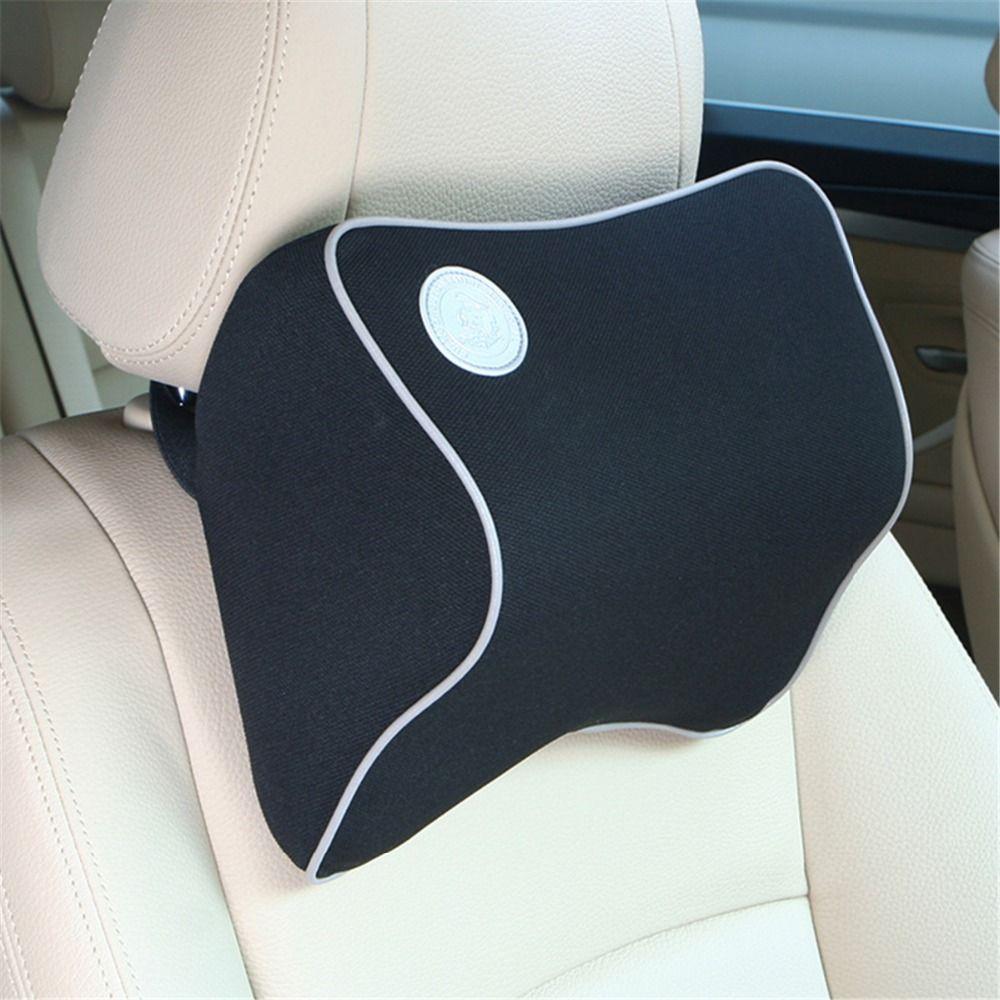 New Space Cotton Memory Car Seat Cushion Car Headrest Auto Supplies Neck Auto Safety Neck Headrest Black Beige Brown