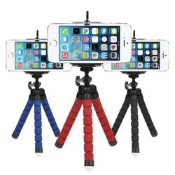 Flexible Octopus Tripod for Phone with Phone Clip Screw Mount Adapter For GoPro SJCAM Xiaomi Yi Action Camera Tripod Stand Mount