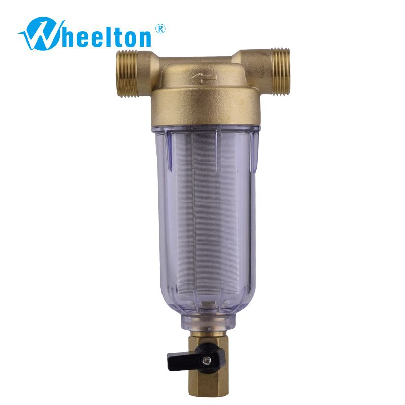 Wheelton water filter First step water appliance protective system brass 40 micron stainless steel mesh prefilter Freeshipping