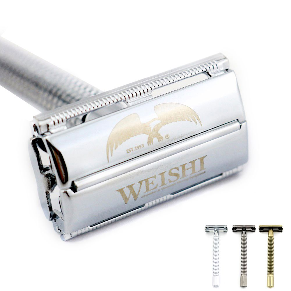 Weishi butterfly safety shaving razors Manual safety razor Long handle Silvery Gun color <font><b>Bronze</b></font> NEW
