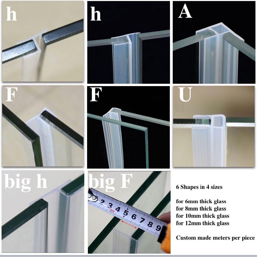 Silicone joints porte coulissante écran douche porte fenêtre grange salle de bain étanchéité 6 8 10 12mm verre montage accessoires sur mesure