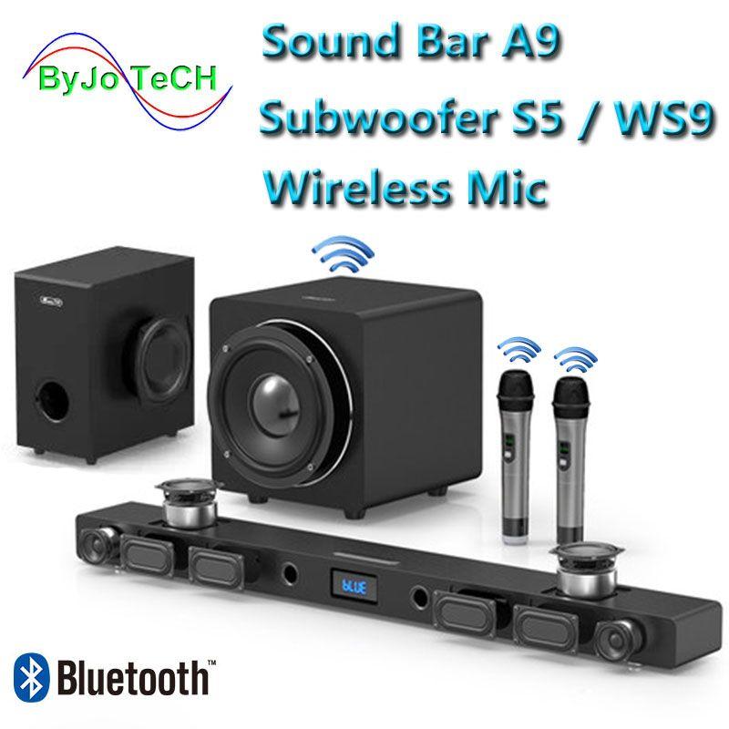 JY AUDIO A9 Bluetooth Soundbar 5,1 surround sound heimkino 8 einheit integrierte heimkino TV lautsprecher Mit 8 zoll subwoofer