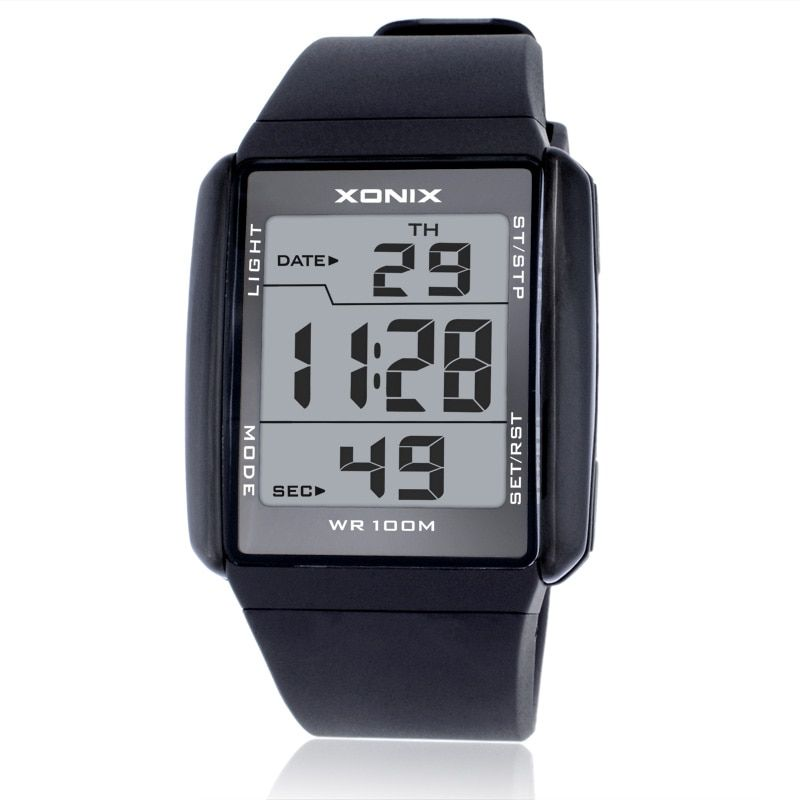 Hot!!!XONIX Fashion Lovers' Sports Watches Waterproof 100M Men and Women Digital Watch Swimming Diving Hand Clock Montre Homme