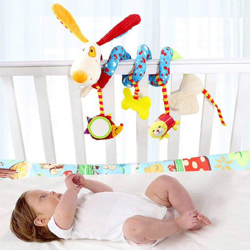 Infant Multifunctional Rattles Bed Stroller Mobile Baby Toys Newborn Cartoon Dog Hanging Grasp Educational Toy Crib Baby Rattle