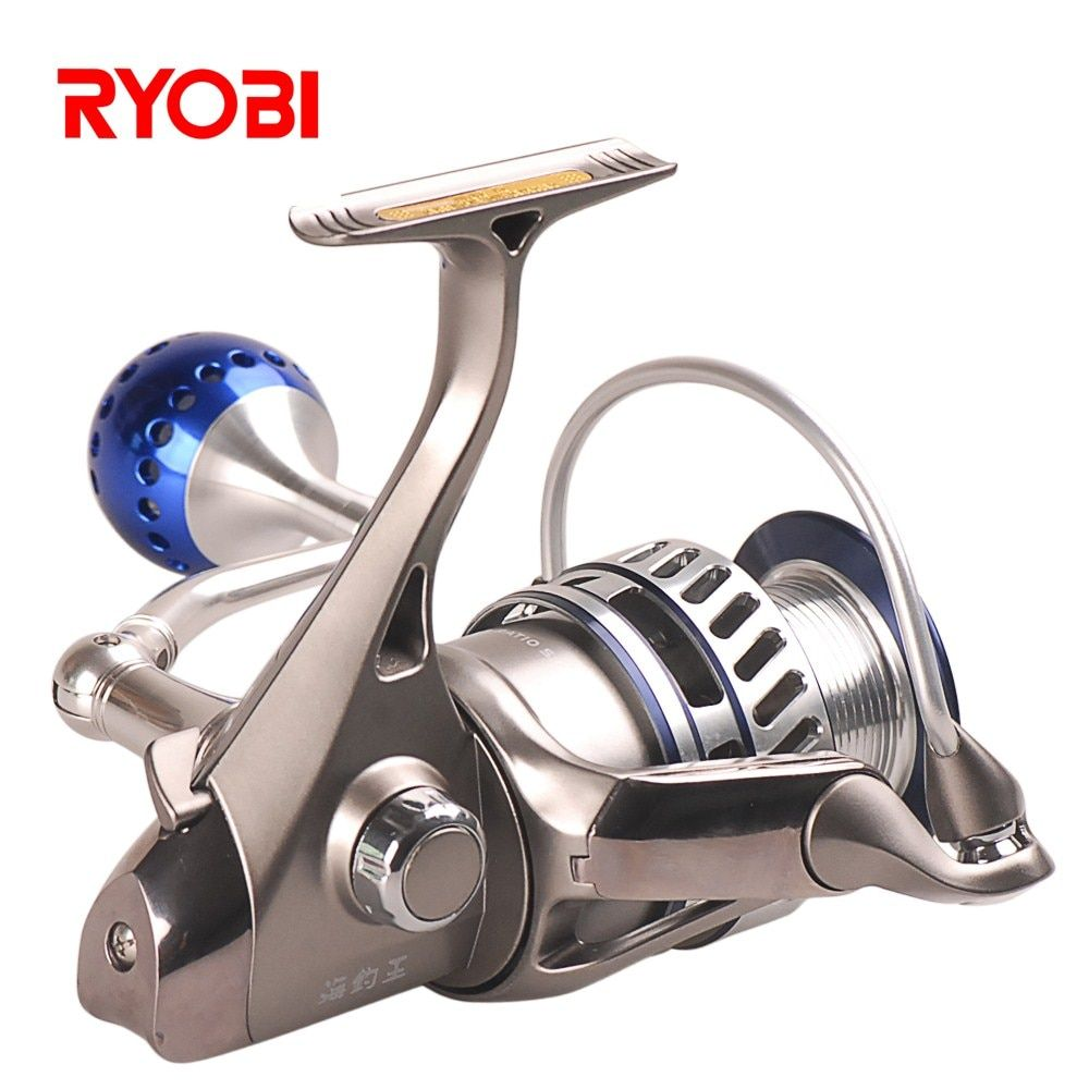 RYOBI 6000/8000 Fishing King III Spinning Fishing Reel 5.0:1/6+1BB CNC Hanle Molinete Fishing Reel Moulinet Peche Olta AP POWER