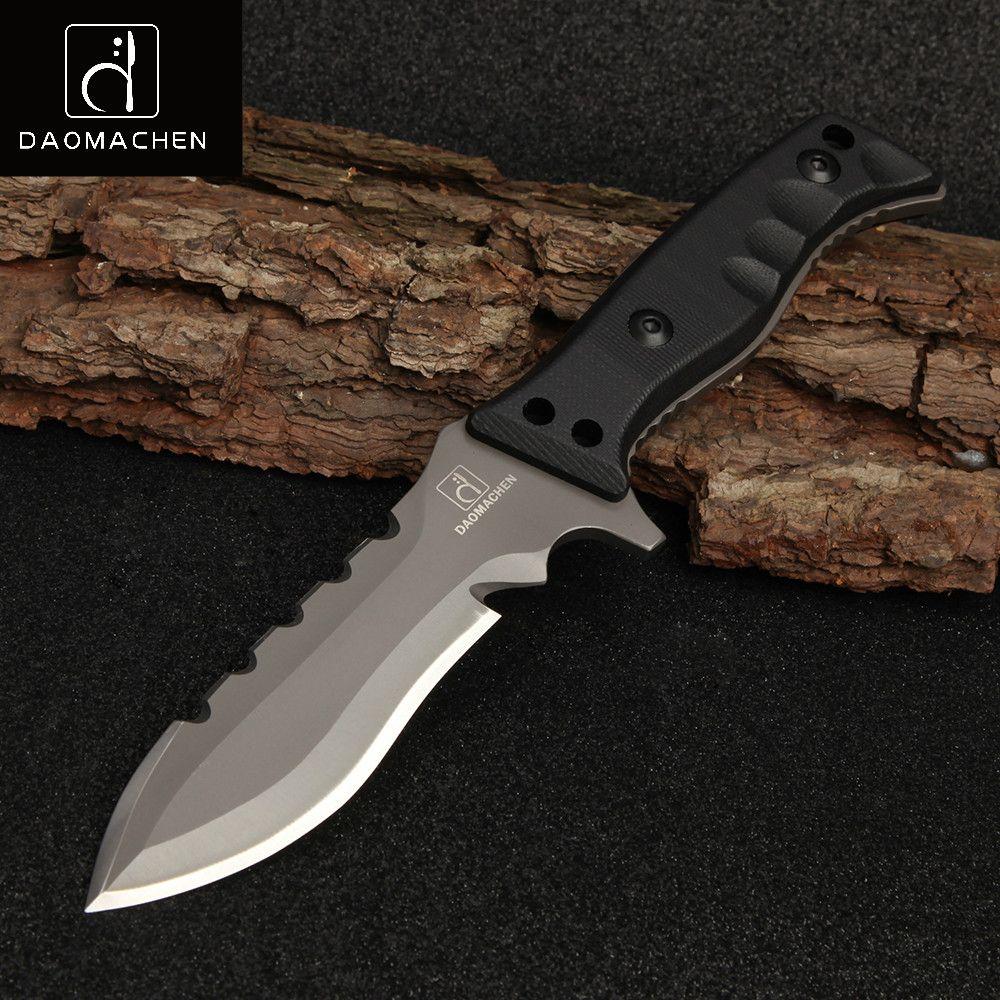 2017 Pleine Saveur En Plein Air Tactique Couteau de Survie Camping Outils Collection Couteaux de Chasse Avec Importés K gaine G10 Poignée