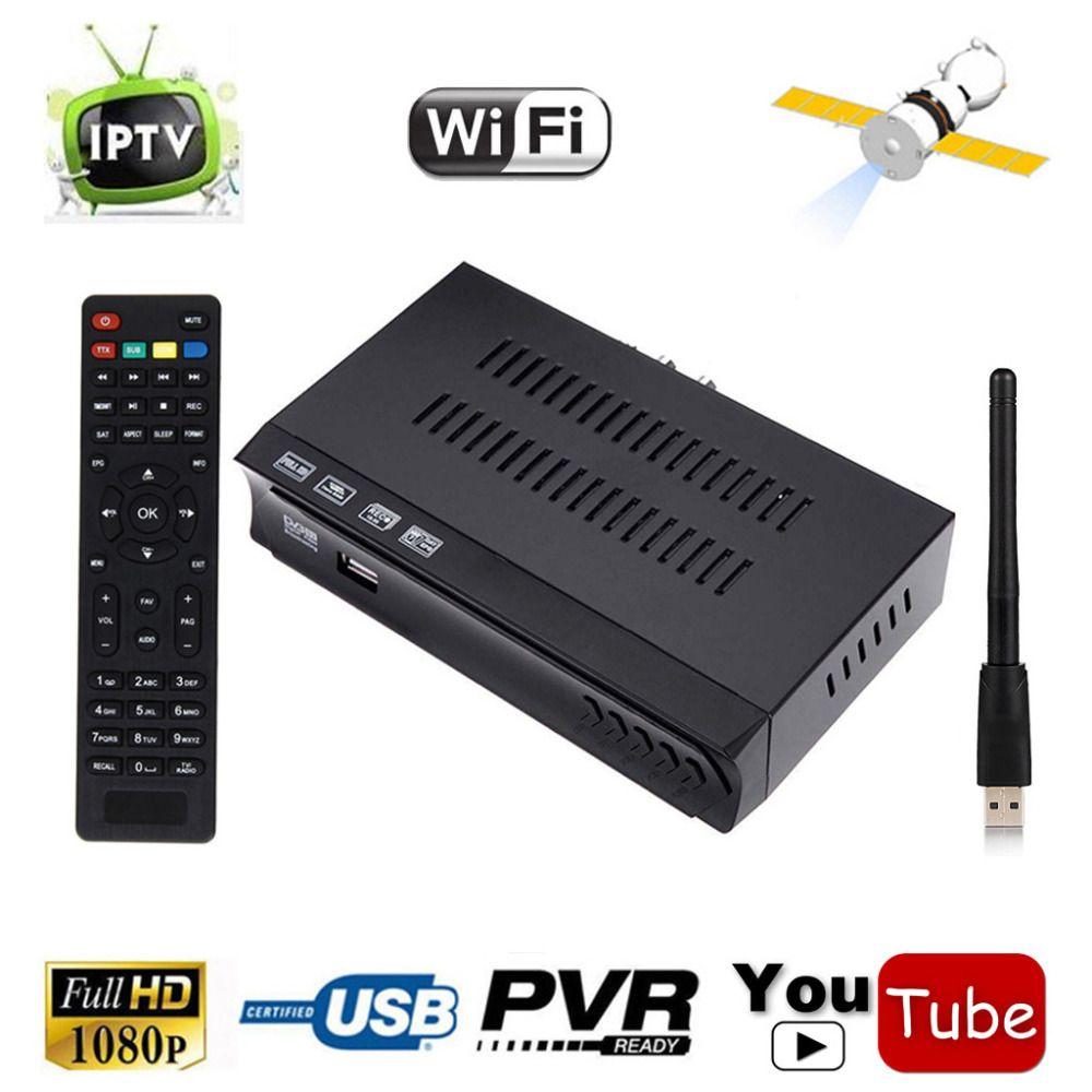 Mini Size DVB-S2 HD Digital Satellite Receiver Combo Set Top BOX Support IPTV Channel m3u Upload WIFI IKS Power VU CCCAM Newcam