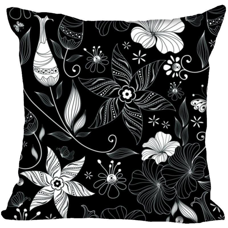 Taie d'oreiller personnalisée motif noir et blanc fermeture éclair taie d'oreiller 35X35,45X45,60X60 cm (deux côtés) imprimer vos photos taies d'oreiller
