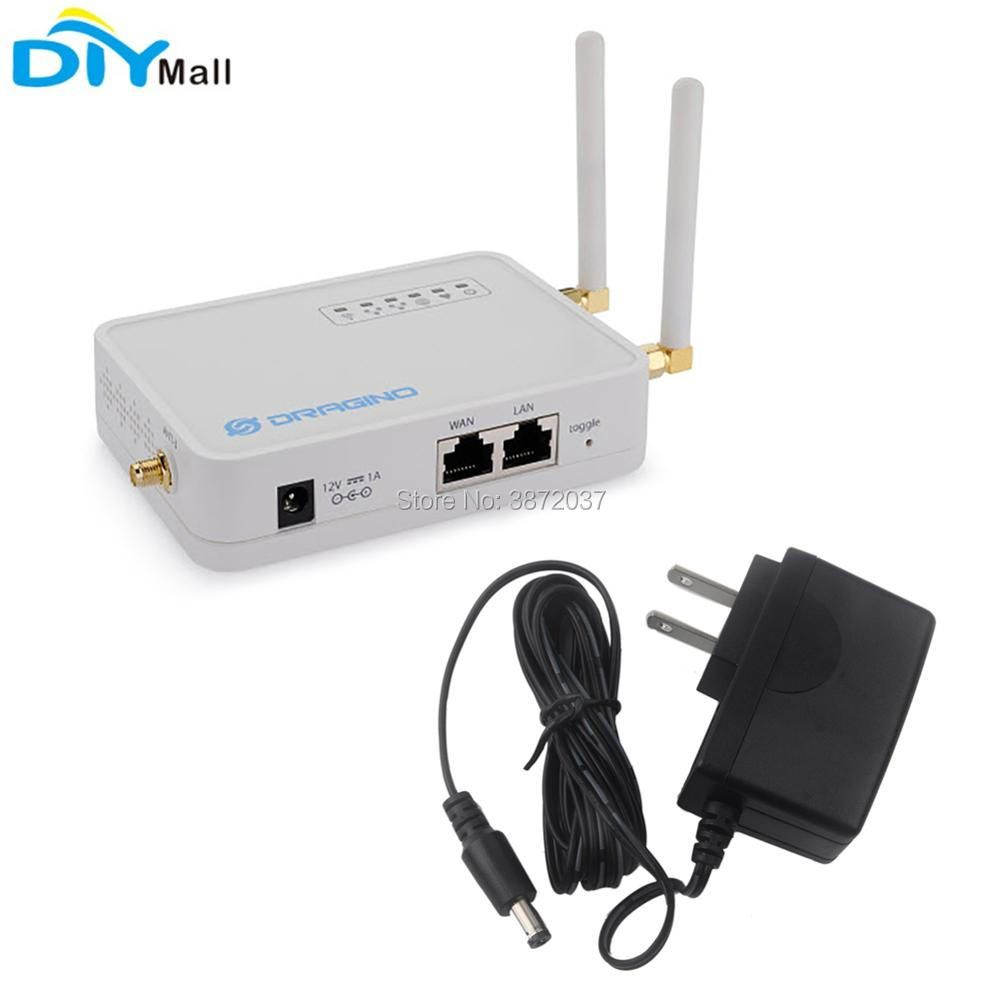 For Dragino LG02 Dual Channel LoRa Gateway Wireless Transceiver 915MHz 868MHz 433MHz LoRaWAN Repeater GPS Home Automation