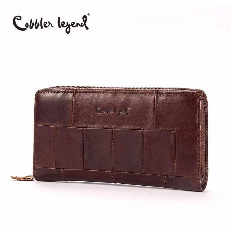Cobbler Legende Marke Designer Casual Frauen Brieftasche Aus Echtem Leder Lange Brieftasche Für Damen Münze Karte Geldbörsen Für Weibliche Münze Tasche