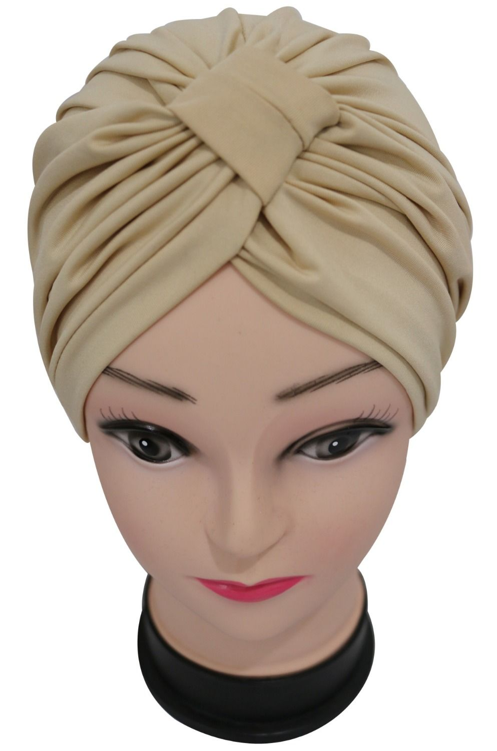 Free Shipping 2017 New Fashion Black Burgundy  Navy Solid Color Soft Modal Indian Turban Hats Cap For Women