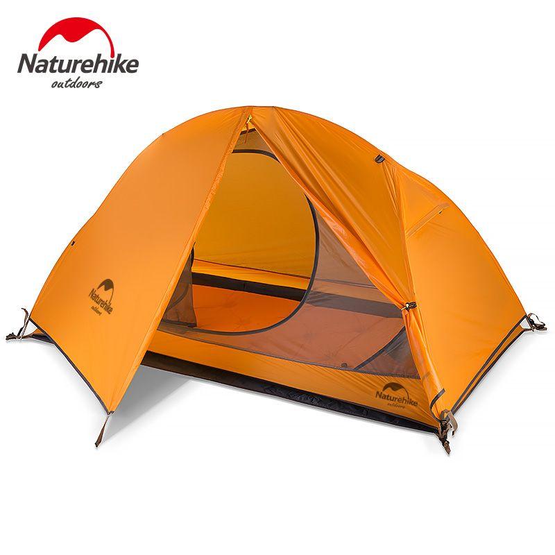 Nature randonnée Silicone Portable ultra-léger tente étanche 4000 + tentes Double couche Camping extérieur voyage tente NH Camping tentes