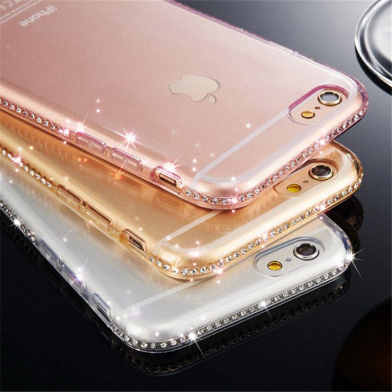 Strass TPU Abdeckung Für iPhone 5 5 s se Fall Luxus Diamant Silizium Weichen telefon Shell Coque Für iPhone 5se 6 s 6 s 7 8 Plus Etui