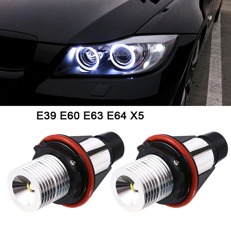 2*5W 10W for Bridgelux LED Chips LED Marker Angel Eyes White Blue Red Yellow Color for BMW X5 E39 E53 E60 E61 E63 E64