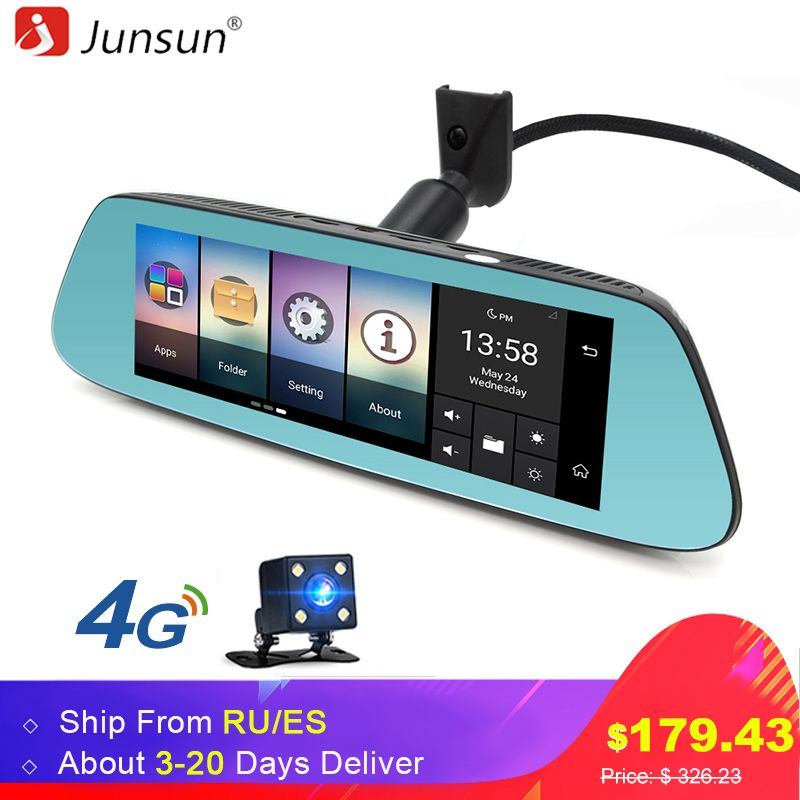 Junsun 8 4G Special Mirror Car DVR <font><b>Camera</b></font> Android 5.1 with GPS DVRs Automobile Video Recorder Rearview Mirror <font><b>Camera</b></font> Dash Cam