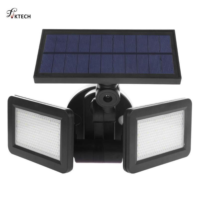 48 LED double tête solaire lumière Radar capteur projecteur étanche à l'extérieur solaire jardin lumière Super lumineuse cour lampe à LED d'inondation