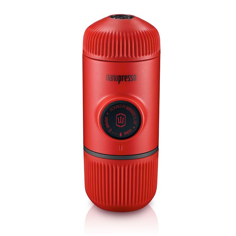 Wacaco Nanopresso Tragbare Espresso Kaffee Maker, Upgrade-Version von Minipresso, 18 Bar Druck, Rot Patrol Edition.