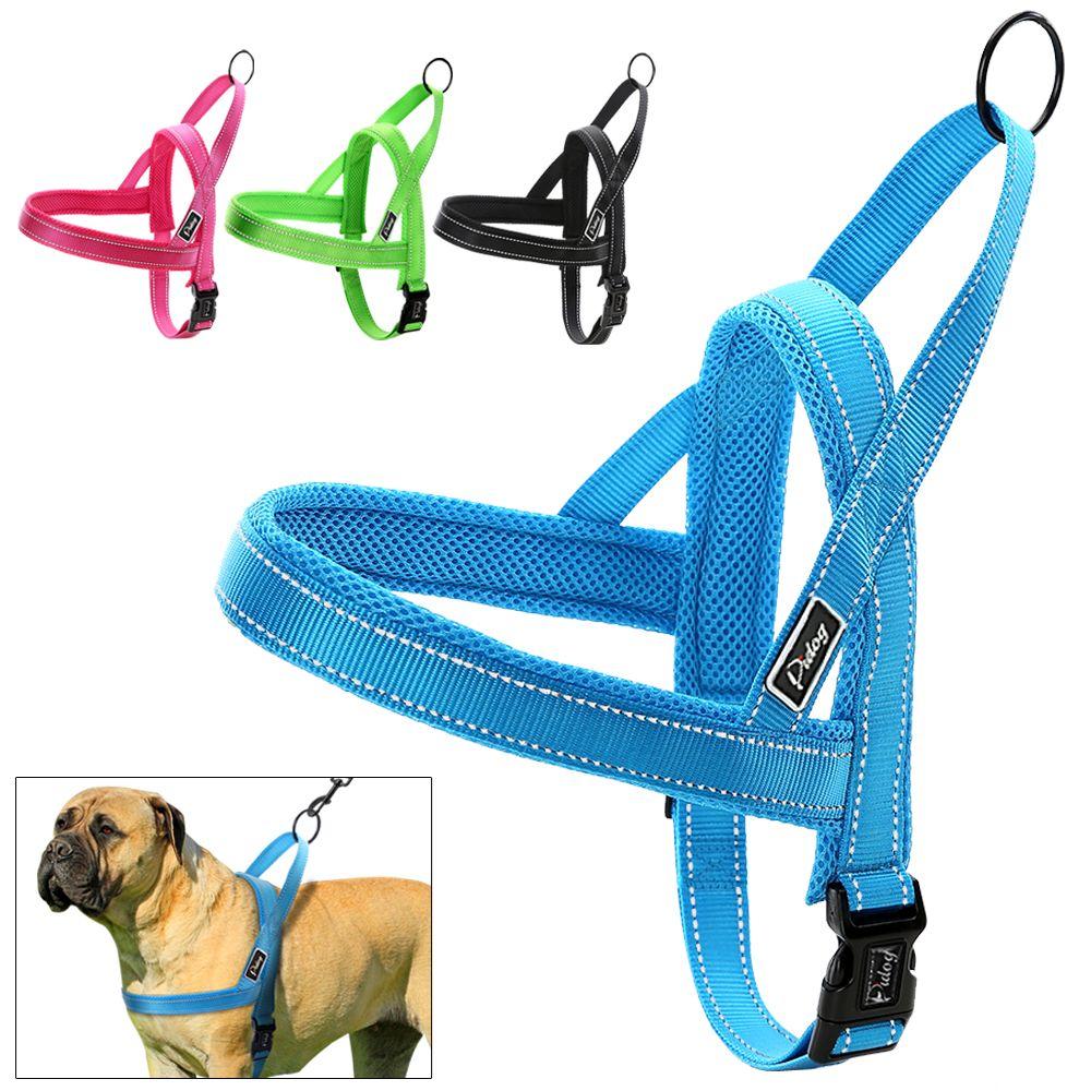 Harnais pour chien sans traction en Nylon à ajustement rapide gilet réfléchissant en maille harnais pour chiot pour petits chiens de taille moyenne réglable XXS XS S M L