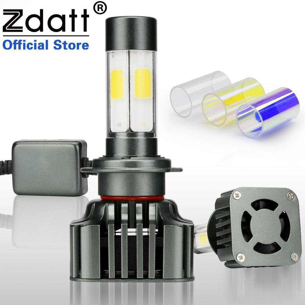 Zdatt 360 градусов Освещение h7 светодиодные лампы авто 12000lm 100 Вт Фары для автомобиля автомобилей свет canbus 3000 К 6000 К 8000 К 12 В автомобилей