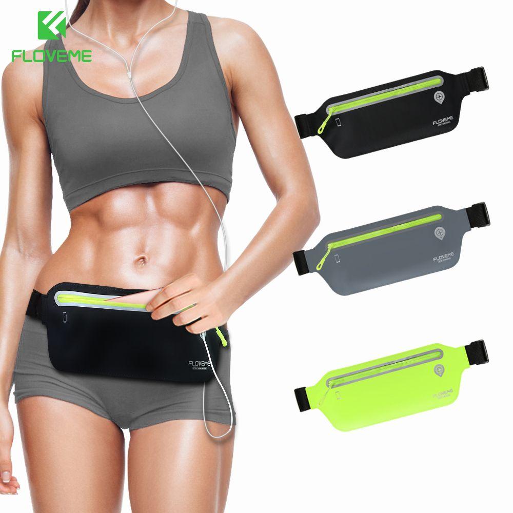 FLOVEME sac de taille de Gym universel pour iPhone X Xs Plus 6 6 s Plus bouton de réglage en cours d'exécution poche de téléphone de Sport pour iPhone 7 8 Plus