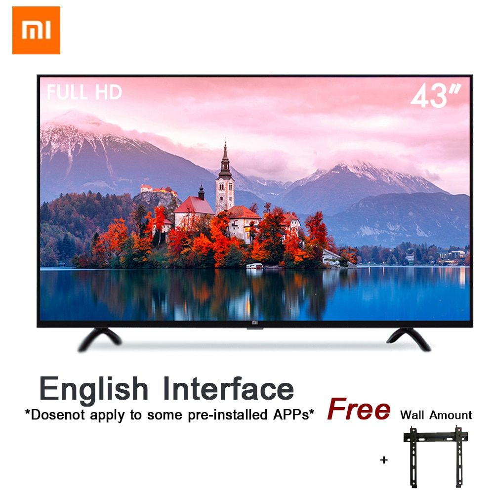 Xiaomi Smart 4A 43 inches 1920*1080 FHD Full HD Screen TV Set HDMI WIFI Ultra-thin 1GB Ram 8GB Rom Game Play Display Dolby Sound