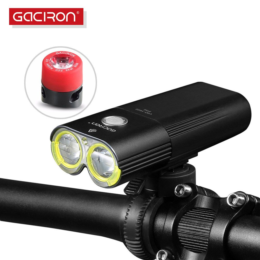 Gaciron V9D-1600 Bike Front Light Waterproof 1600 Lumens Rechargeable 5000mAh Power Bank Flashlight bicycle accessories