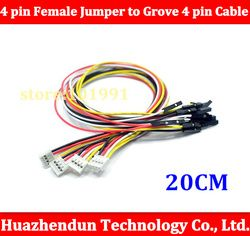 5PCS/lot Grove - 4 pin Female Jumper to Grove 4 pin Conversion Cable free shipping