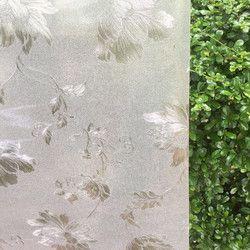 Buram dekoratif diri perekat kaca film PVC buram privasi kaca jendela stiker untuk pintu geser kaca jendela 60*200